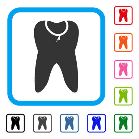 Caries tooth icon.