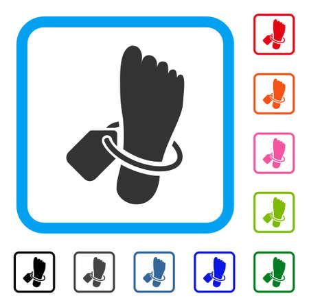Morgue tagged foot icon. 일러스트