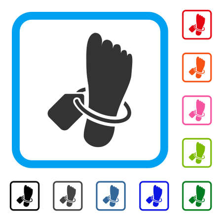 Morgue tagged foot icon. Illustration