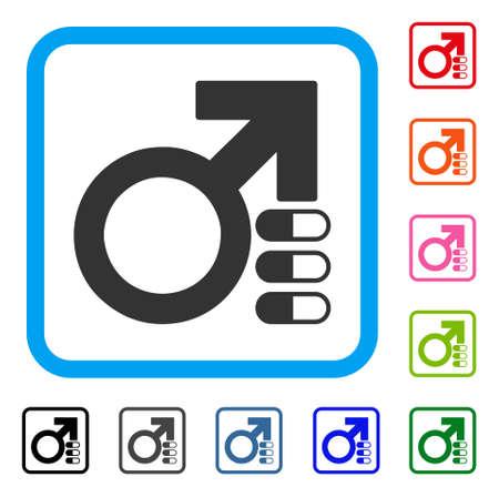 Male enhancement pills icon. Illustration