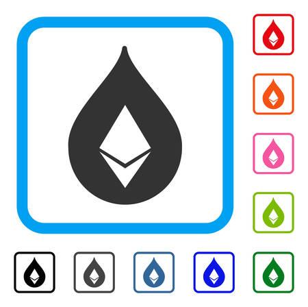 Ethereum ドロップ アイコン。