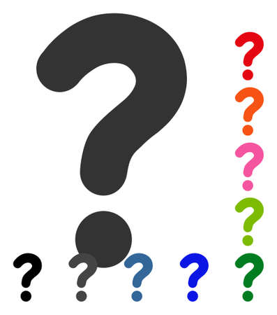 sql: Question icon. Flat grey iconic symbol in a blue rounded squared frame. Black, gray, green, blue, red, orange color additional versions of Question vector. Designed for web and application UI.