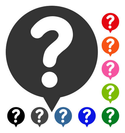 Status Balloon icon. Flat gray iconic symbol inside a blue rounded rectangular frame. Black, gray, green, blue, red, orange color versions of Status Balloon vector.
