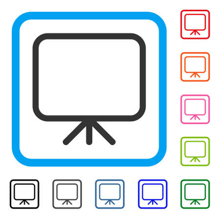 Screen in flat style icon. Stock Vector - 88667833