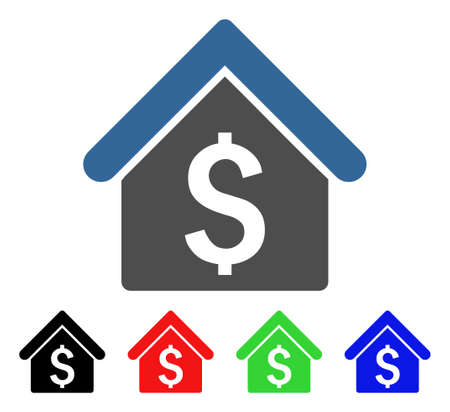 House Rent icon. Vector illustration style is a flat iconic house rent symbol with black, red, green, blue color variants. Designed for web and software interfaces.