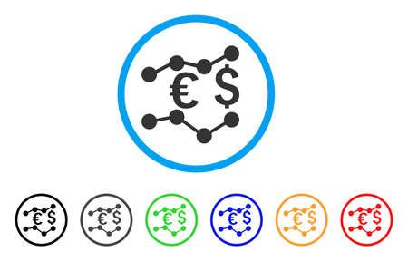 通貨のチャートには、アイコンが丸められます。スタイルは、ボーナス色バージョンで青い円の中フラット グレーのシンボルです。