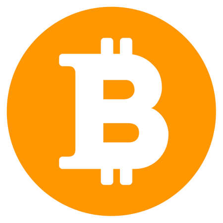 Bitcoin Coin flat vector illustration. An isolated illustration on a white background.