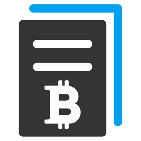 Bitcoin Price Copy flat raster illustration. An isolated illustration on a white background.