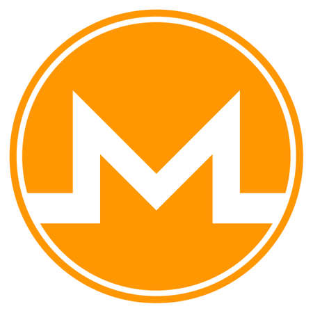 Monero Coin flat vector icon. An isolated illustration on a white background.