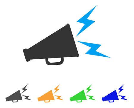Alert megaphone icon illustration.