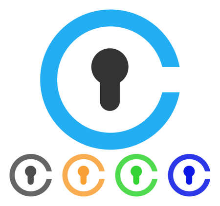 Keyhole icon illustration. Illustration