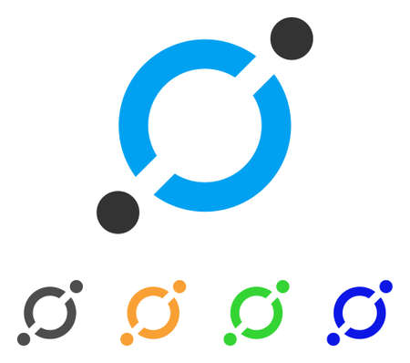Node link icon illustration. Illustration