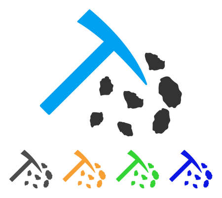 Stone Mining Hammer Icon Vector Illustration Style Is A Flat