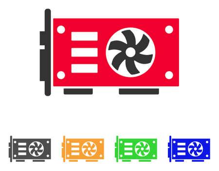 Video Graphics Gpu Card icon. Vector illustration style is a flat iconic video graphics gpu card symbol.
