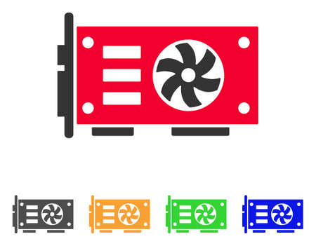 Video Graphics Gpu Card icon. Vector illustration style is a flat iconic video graphics gpu card symbol.