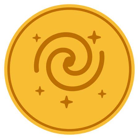Galaxy Stars golden coin icon.