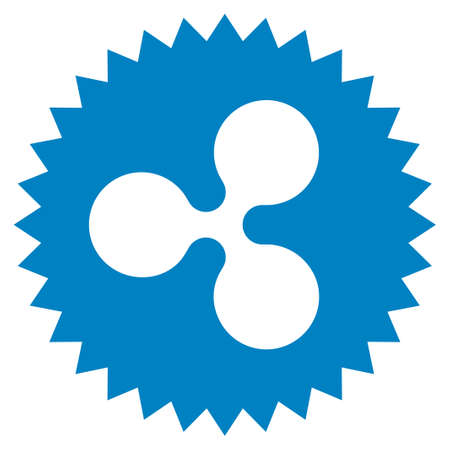 Ripple Insignia Stamp flat raster pictogram. An isolated icon on a white background. Stock Photo