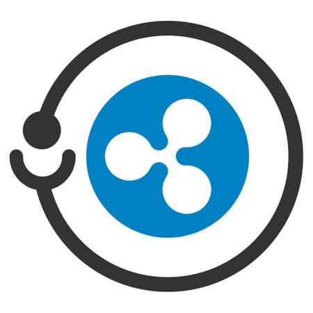Ripple Masternode flat raster illustration. An isolated icon on a white background.