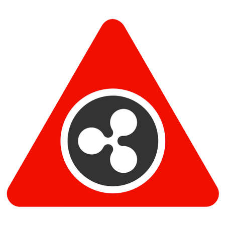 Ripple Hazard flat raster illustration. An isolated icon on a white background. Stock Photo