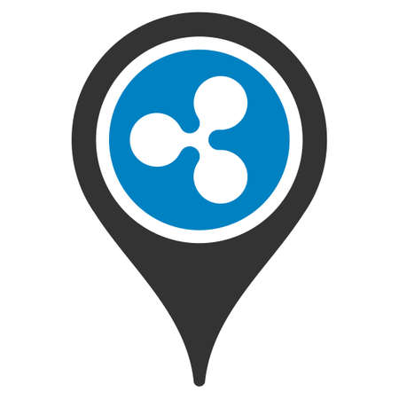 Ripple Map Pointer flat raster icon. An isolated icon on a white background. Stock Photo