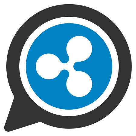 Ripple Message Balloon flat raster pictograph. An isolated icon on a white background.