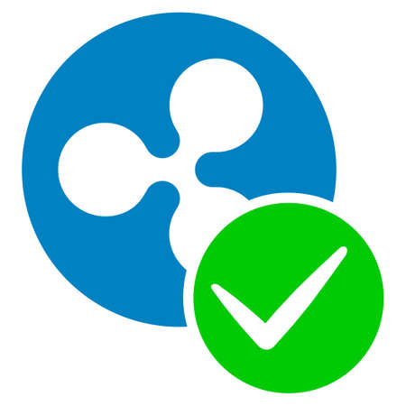 Valid Ripple Coin flat raster pictogram. An isolated icon on a white background.
