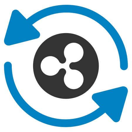 Refresh Ripple flat raster icon. An isolated refresh ripple pictogram on a white background.