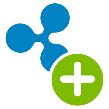 Ripple Add flat raster icon. An isolated ripple add design element on a white background.