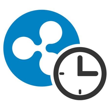 Ripple Credit Counter flat raster icon. An isolated ripple credit counter pictograph on a white background.