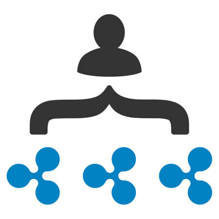 Ripple Collector flat raster icon. An isolated ripple collector pictograph on a white background.