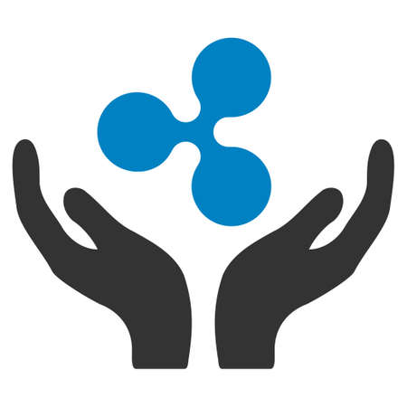 Ripple Maintenance Hands flat raster icon. An isolated ripple maintenance hands illustration on a white background.