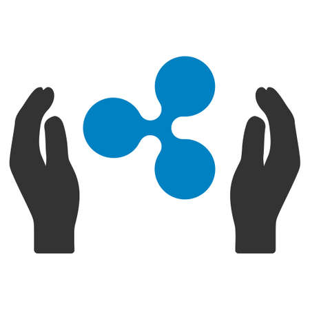 Ripple Care Hands flat vector icon. An isolated ripple care hands pictogram on a white background.