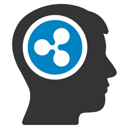 Ripple Think flat vector icon. An isolated ripple think design element on a white background.