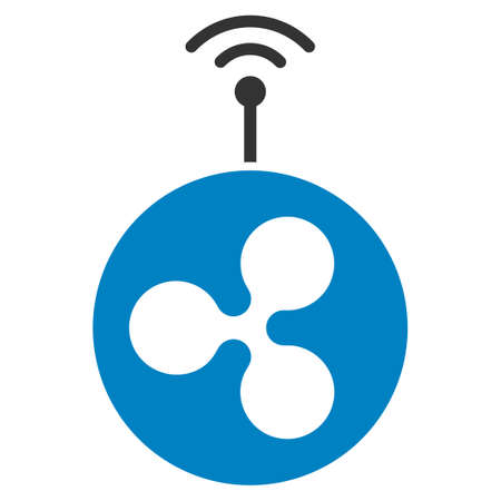 Ripple Radio Transmitter flat vector icon. An isolated ripple radio transmitter illustration on a white background.