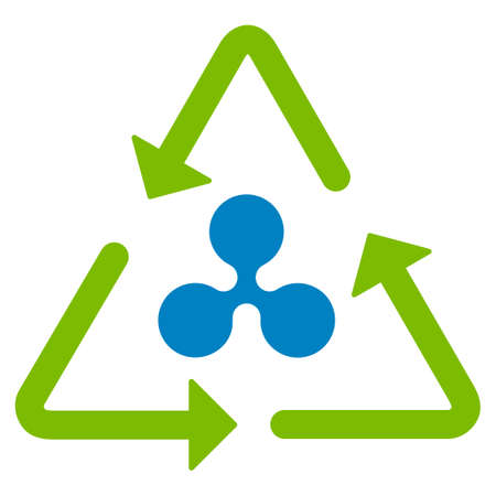 Ripple Recycling flat vector icon. An isolated ripple recycling pictogram on a white background. Illustration