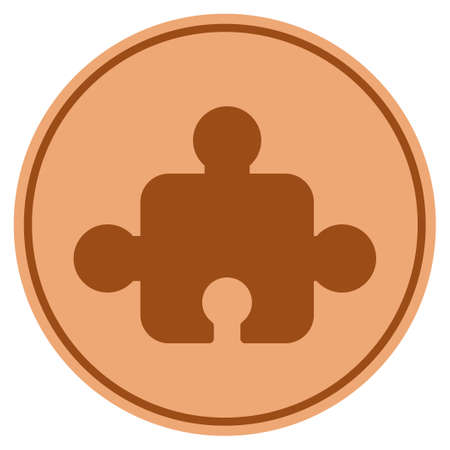 Element bronze coin icon. Vector style is a copper flat coin symbol. Illustration