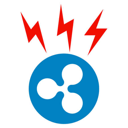 Ripple Lightnings flat vector pictogram. An isolated icon on a white background. Illustration