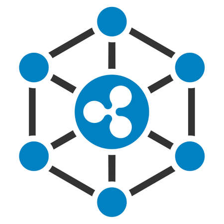Ripple Network flat vector icon. An isolated icon on a white background.