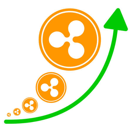 Ripple Inflation Trend flat vector pictogram. An isolated icon on a white background.