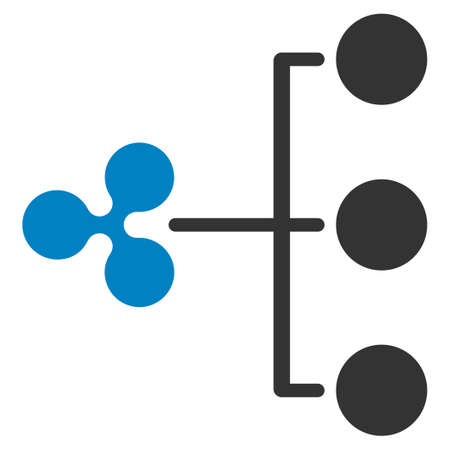 Ripple Structure Diagram flat raster pictograph. An isolated icon on a white background.