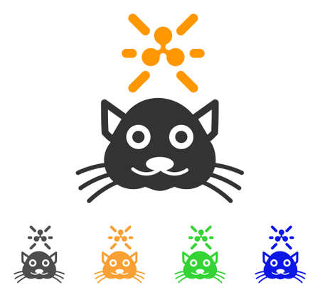 Crypto ripple kitty icon. Vector illustration style is a flat iconic crypto ripple kitty symbol with gray, yellow, green, blue color versions. Designed for web and software interfaces.