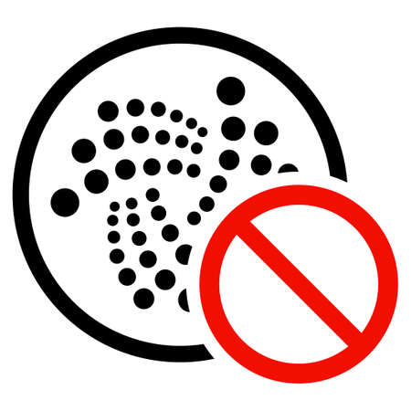 Restricted Iota flat vector pictogram. An isolated icon on a white background.