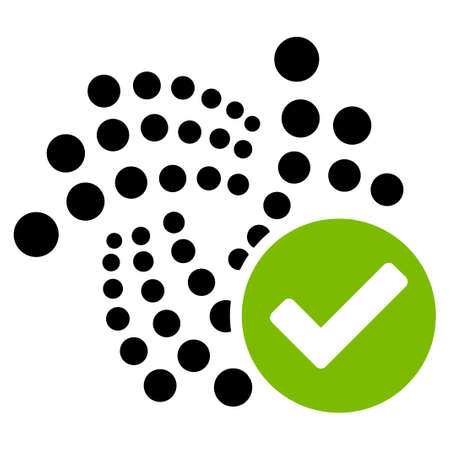 Valid Iota flat vector icon. An isolated icon on a white background.