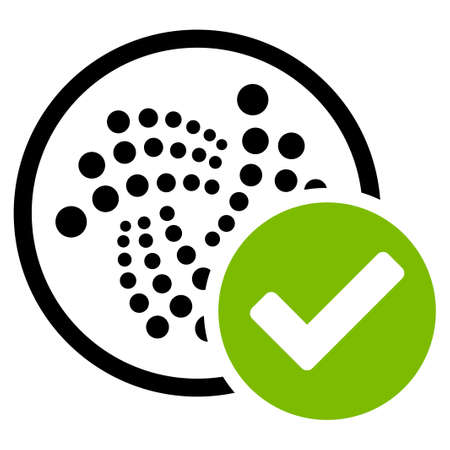 Accept Iota flat vector icon. An isolated icon on a white background. Illustration
