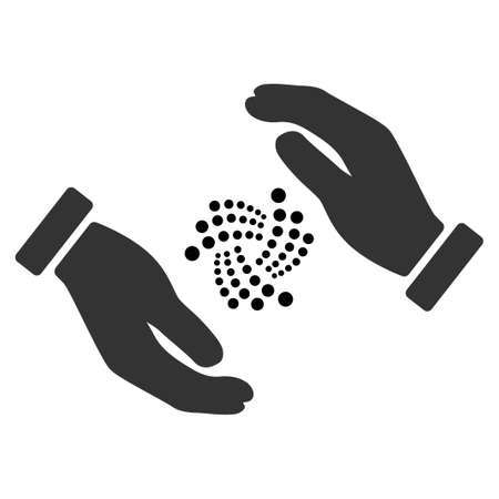 Iota Care Hands flat vector icon. An isolated icon on a white background.