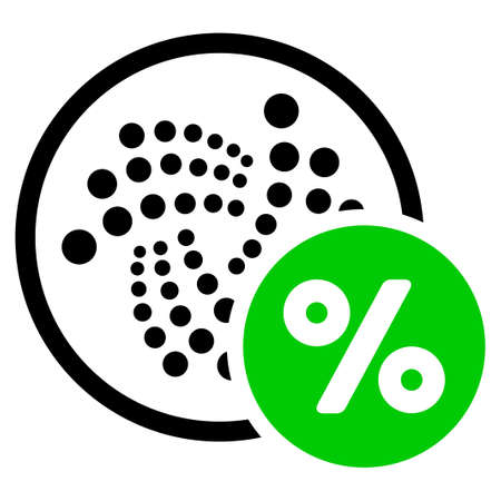 Iota Percent flat vector pictogram. An isolated icon on a white background.