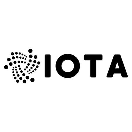 Iota Ticker flat vector pictogram. An isolated icon on a white background.