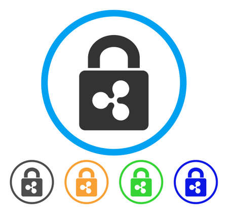 Ripple Lock rounded icon. Style is a flat grey symbol inside light blue circle with bonus colored variants. Ripple Lock vector designed for web and software interfaces.