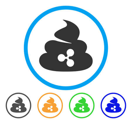 Ripple Shit rounded icon. Style is a flat grey symbol inside light blue circle with additional color versions. Ripple Shit vector designed for web and software interfaces.