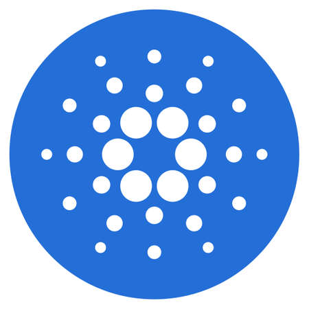 Cardano Currency flat vector icon. An isolated icon on a white background.